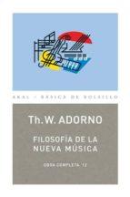 filosofia de la nueva musica (obra completa, 12)-theodor w. adorno-9788446016762