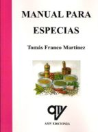 manual para especias-tomas franco martinez-9788496709362