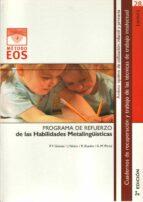 programa de refuerzo de las habilidades metalingüisticas-pedro f. gomez canet-9788497271462