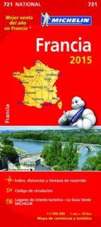 mapa francia 2015 ref. 11721-9782067199972