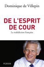 de l'esprit de cour (ebook)-dominique de villepin-9782262035372