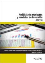 uf0338 - análisis de productos y servicios de inversión-fernando diaz perez-9788428397872