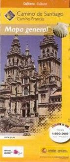 camino de santiago. mapa general (1:500.000)-9788441615472