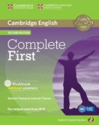 complete first certificate for spanish speakers workbook with audio cd 2nd edition: workbook without answers 9788483238172