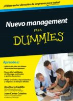 nuevo management para dummies juan carlos cubeiro ana maria castillo 9788432902482