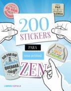200 stickers para una actitud zen 9788448022082