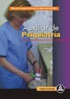 auxiliar de psiquiatria: temario general-9788466507882