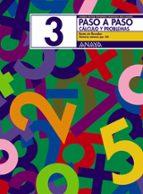 PASO A PASO 3. CALCULO Y PROBLEMAS: RESTA SIN LLEVADAS