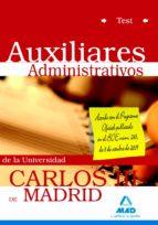 AUXILIAR ADMINISTRATIVO, POR PARTE DE LA UNIVERSIDAD CARLOS III. TEST