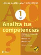 analiza tus competencias. lengua castellana y literatura 1 eso-roberto bravo de la varga-9788421853092