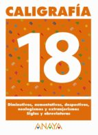caligrafia 18 (primaria) (ed. 2004) andrea pastor fernandez 9788466727792