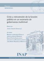 crisis y reinvencion de la funcion publica en un escenario de gobernanza multinivel jorge crespo gonzalez 9788473515092