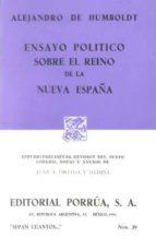 ensayo politico sobre el reino de la nueva españa a. humboldt 9789684329492