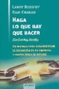 HAGA LO QUE HAY QUE HACER - 9788475774602 - RAM CHARAN