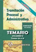 TRAMITACION PROCESAL Y ADMINISTRATIVA (VOL. II): TEMARIO - 9788482194332 - JOSE LUIS RAMOS CEJUDO