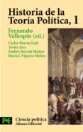 HISTORIA DE LA TEORIA POLITICA (VOL. I) - 9788420673042 - CARLOS GARCIA GUAL