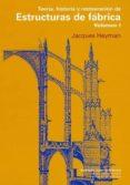 TEORIA, HISTORIA Y RESTAURACION DE ESTRUCTURAS DE FABRICA (VOL. 1 ) - 9788497285452 - JACQUES HEYMAN