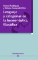 LENGUAJE Y CATEGORIAS EN LA HERMENEUTICA FILOSOFICA RAMON RODRIGUEZ