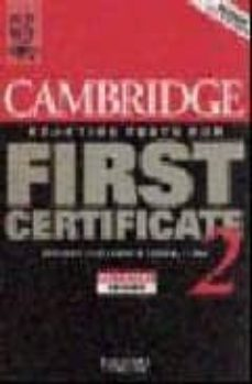 Descargar CAMBRIDGE PRACTICE TESTS FOR FIRST CERTIFICATE: SELF-STUDY BOOK: BK.2 gratis pdf - leer online