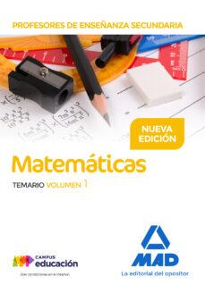 profesores de enseñanza secundaria matemáticas temario volumen 1-9788414211502