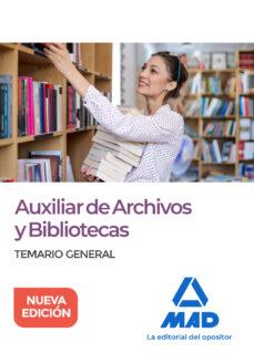 Debatecd.mx Auxiliar De Archivos Y Bibliotecas: Temario General Image