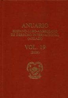 Geekmag.es Anuario Hispano-luso-americano De Derecho Internacional (Ahladi) (Vol. 19) (2009) Image