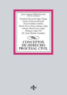 conceptos de derecho procesal civil (ebook)-juan antonio robles garzon-9788430971602