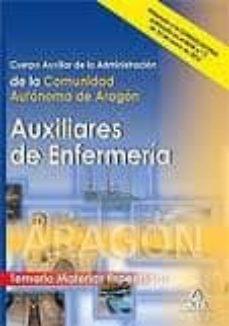 Tajmahalmilano.it Auxiliares De Enfermeria: Cuerpo Auxiliar De La Administracion De La Comunidad Autonoma De Aragon. Temario Materias Especificas Image