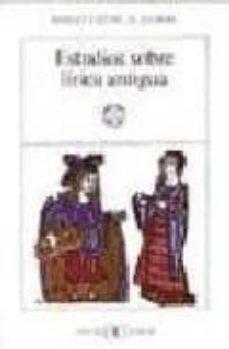 estudios sobre lirica antigua-margit frenk alatorre-9788470392702