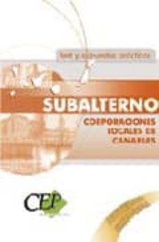 Chapultepecuno.mx Subalterno Corporaciones Locales De Canarias. Test Y Supuestos Pr Acticos Image
