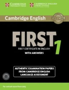 Amazon descarga gratuita de audiolibros CAMBRIDGE ENGLISH FIRST 1 FOR REVISED EXAM FROM 2015 STUDENT S BOOK PACK (STUDENT S BOOK WITH ANSWERS AND AUDIO CDS (2)) (FCE (Literatura española) de  MOBI DJVU FB2 9781107663312