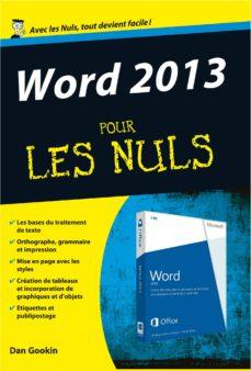 word 2013 pour les nuls (ebook)-dan gookin-9782754057912