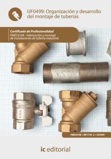 organización y desarrollo del montaje de tuberías. fmec0108 (ebook)-9788417086312