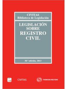 Permacultivo.es Legislacion Sobre Registro Civil 2013 Formato Duo (30ª Ed) Image