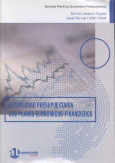 ESTABILIDAD PRESUPUESTARIA. LOS PLANES ECONÓMICOS-FINANCIEROS - ALFREDO VELASCO ZAPATA | Adahalicante.org