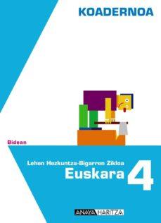 Chapultepecuno.mx Euskara 4. Koadernoa.educación Primaria - Segundo Ciclo - 4º Image