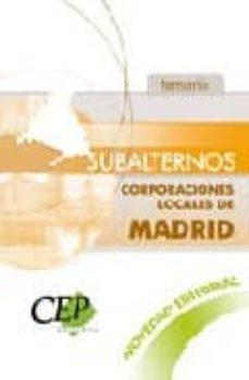 Valentifaineros20015.es Subalternos Corporaciones Locales De Madrid: Temario Image
