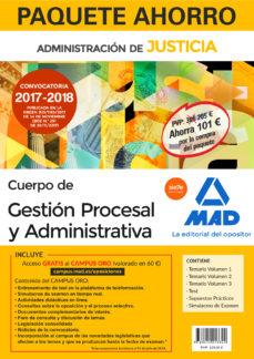 paquete ahorro gestión procesal y administrativa (turno libre). a horra 101 € (incluye temario volúmenes 1, 2 y 3; test; supuestos prácticos; simulacros examen y acceso campus oro)-9788414213322