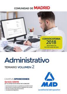 Milanostoriadiunarinascita.it Administrativo De La Comunidad De Madrid Temario Volumen 2 Image