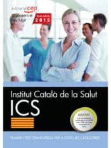 Valentifaineros20015.es Institut Català De La Salut. Temari I Test Transversal Per A Totes Les Categories Image