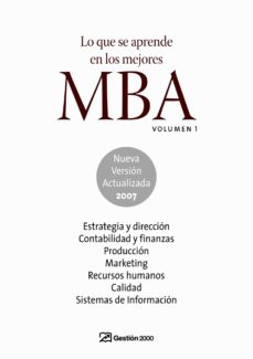lo que se aprende en los mejores mba (t. 1)-9788496612822