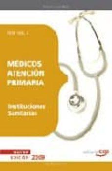 Enmarchaporlobasico.es Medicos Atencion Primaria De Instituciones Sanitarias: Test Vol. I Image