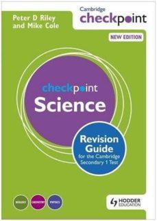 Descargador de libros de Google para iphone CAMBRIDGE CHECKPOINT SCIENCE REVISION GUIDE FOR THE CAMBRIDGE SECONDARY 1 TEST PDF MOBI iBook en español 9781444180732