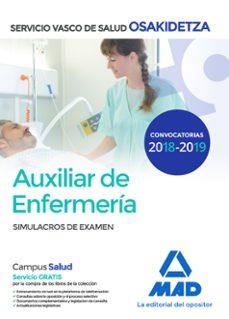 auxiliar de enfermeria de osakidetza-servicio vasco de salud: simulacros de examen-9788414215432