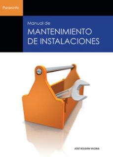 Ebook epub descargas MANUAL DE MANTENIMIENTO DE INSTALACIONES