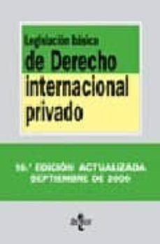 Iguanabus.es Legislacion Basica De Derecho Internacional Privados(textos Legal Es Nº 139) Image