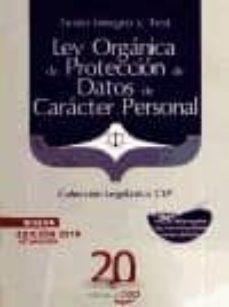 ley organica de proteccion de datos de caracter personal. texto í ntegro y test. coleccion legislativa cep-9788468105932