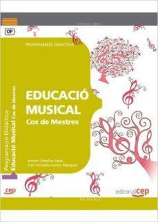 cos de mestres. educació musical. programació didàctica-9788468143132