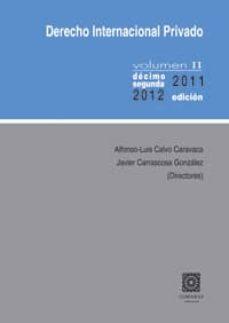Cronouno.es Derecho Internacional Privado, Tomo Ii (13º Ed.) Image