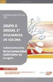 Permacultivo.es Oficial 2ª Ayudantes De Cocina De La Administracion De La Comunid Ad Autonoma De Aragon. Materias Especificas. Test Image